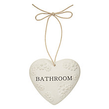 Buy John Lewis Meadow Heart Bathroom Sign Online at johnlewis.com
