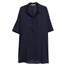 Buy Mango Flowy Shirt Blouse, Navy Online at johnlewis.com