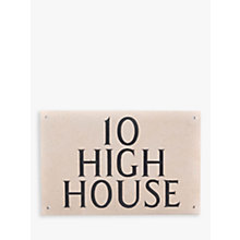 Buy The House Nameplate Company Personalised Portland Stone House Sign, 3 Line Online at johnlewis.com