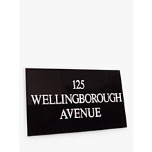 Buy The House Nameplate Company Personalised Granite House Sign, 3 Line, Small Online at johnlewis.com