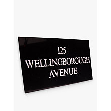 Buy The House Nameplate Company Personalised Granite House Sign, 3 Line, Large Online at johnlewis.com