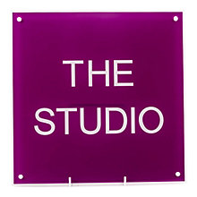 Buy The House Nameplate Company Personalised Acrylic Square House Sign Online at johnlewis.com