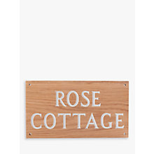 Buy The House Nameplate Company Personalised Oak Wood House Sign, 2 Line Online at johnlewis.com