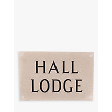 Buy The House Nameplate Company Personalised Portland Stone House Sign , 2 Line Online at johnlewis.com