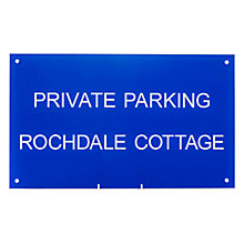 Buy The House Nameplate Company Personalised Acrylic Rectangular House Sign Online at johnlewis.com