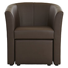 Buy John Lewis Portland Faux Leather Armchair and Footstool Online at johnlewis.com