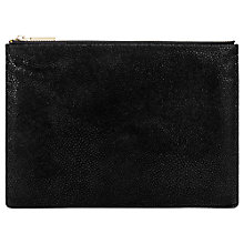 Buy Whistles Medium Stingray Clutch Bag, Black Online at johnlewis.com