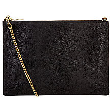 Buy Whistles Rivington Stingray Leather Chain Clutch Bag, Black Online at johnlewis.com