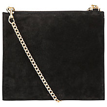 Buy Whistles Suede Perry Chain Clutch, Black Online at johnlewis.com