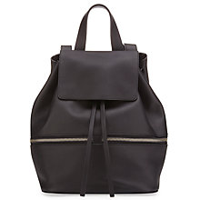 Buy Whistles Soho Drawstring Rucksack, Black Online at johnlewis.com
