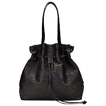 Buy Whistles Caracas Duffel Bag, Black Online at johnlewis.com