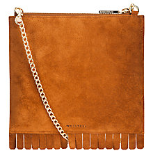 Buy Whistles Fringe Perry Chain Clutch Bag, Tan Online at johnlewis.com