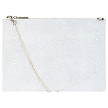 Buy Whistles Rivington Stingray Leather Chain Clutch Bag Online at johnlewis.com