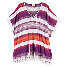 Buy East Space Dye Stripe Kaftan, Multi Online at johnlewis.com