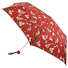 Buy Cath Kidston Minilite British Birds Umbrella, Berry Online at johnlewis.com