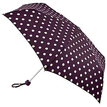 Buy Cath Kidston Minilite Spot Umbrella, Black Ink Online at johnlewis.com