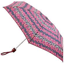 Buy Fulton Tiny 2 Daisy Stripe Umbrella, Pink/Purple Online at johnlewis.com