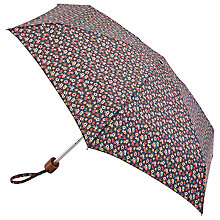 Buy Cath Kidston Tiny Enlarge Rose Umbrella, Charcoal/Multi Online at johnlewis.com