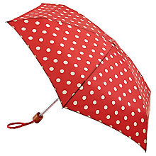 Buy Cath Kidston Tiny Button Spot Umbrella, Berry Online at johnlewis.com