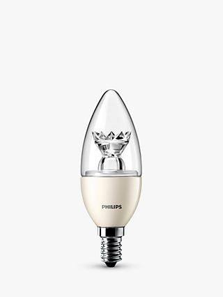 Philips 6W SES Candle Light Bulb, Clear