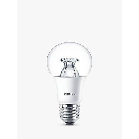 buy philips 8 5w es led classic dimmable bulb clear john lewis. Black Bedroom Furniture Sets. Home Design Ideas