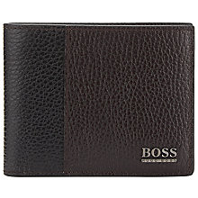 Buy BOSS Storc Textured Wallet, Chocolate Online at johnlewis.com