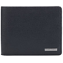 Buy BOSS Leather Sarpey Textured Wallet, Navy Online at johnlewis.com