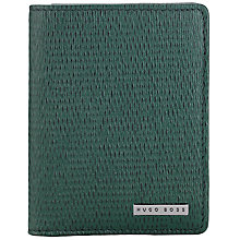 Buy BOSS Tress Text Wallet, Green Online at johnlewis.com