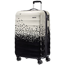 Buy American Tourister Palm Valley 4-Wheel 77cm Large Suitcase, Fly Away Black Online at johnlewis.com