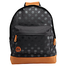 Buy Mi-Pac Polka Backpack, Black Online at johnlewis.com