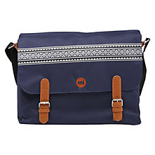 Buy Mi-Pac Nordic Messenger Bag, Navy Online at johnlewis.com