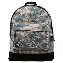 Buy Mi-Pac Digital Camouflage Backpack, Grey/Black Online at johnlewis.com