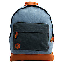 Buy Mi-Pac Denim Patch Stonewash Backpack, Blue/Black Online at johnlewis.com