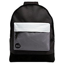 Buy Mi-Pac Tonal Print Backpack, Black/Grey/White Online at johnlewis.com