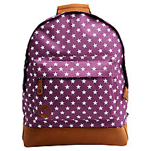 Buy Mi-Pac All Stars Backpack, Deep Purple Online at johnlewis.com