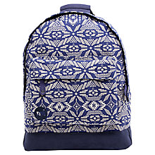 Buy Mi-Pac Alpine Backpack, Blue/Cream Online at johnlewis.com