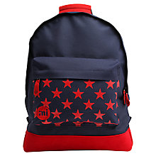 Buy Mi-Pac Star Pocket Backpack, Navy/Red Online at johnlewis.com