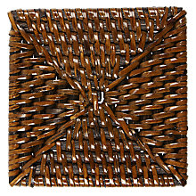 Buy John Lewis Square Rattan Coasters Online at johnlewis.com