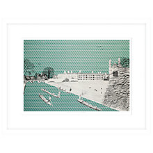 Buy Clare Halifax - Cruising King's College Cambridge, Limited Edition Framed Print, 73 x 93cm Online at johnlewis.com