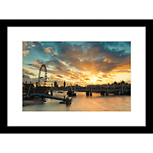 Buy Joseph Eta - Sunset View, London Eye Limited Edition Print, 55 x 40cm Online at johnlewis.com