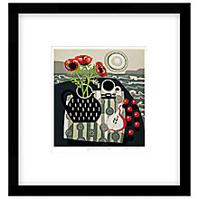 Buy Jane Walker - Spotted Jug with Cherries, Limited Edition Framed Print, 53 x 50cm Online at johnlewis.com