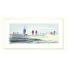 Buy James Lord - Racing Off Hurst, 63 x 109cm Online at johnlewis.com