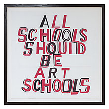 Buy Bob and Roberta Smith RA - All Schools, 69 x 69cm Online at johnlewis.com