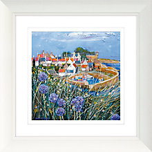 Buy Deborah Phillips - Clifftop Alliums, 52 x 52cm Online at johnlewis.com