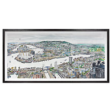 Buy Chris Orr MBE RA - From Clifford Chance Framed Print, 55 x 109cm Online at johnlewis.com