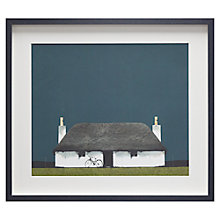 Buy Ron Lawson - Cottage And Bike, Framed Print, 45 x 52cm Online at johnlewis.com