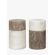 Buy John Lewis Arundel Marble Salt & Peper Holder Online at johnlewis.com