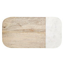 Buy John Lewis Arundle Wood and Marble Board Online at johnlewis.com