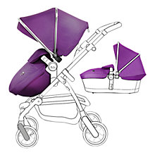 Buy Silver Cross Chrome Pioneer Pushchair Seat, Chassis and Carrycot and Damson/Chrome Essentials Pack, with Simplicity Infant Carrier Online at johnlewis.com