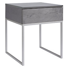 Buy John Lewis Julietta Bedside Table, Grey Online at johnlewis.com